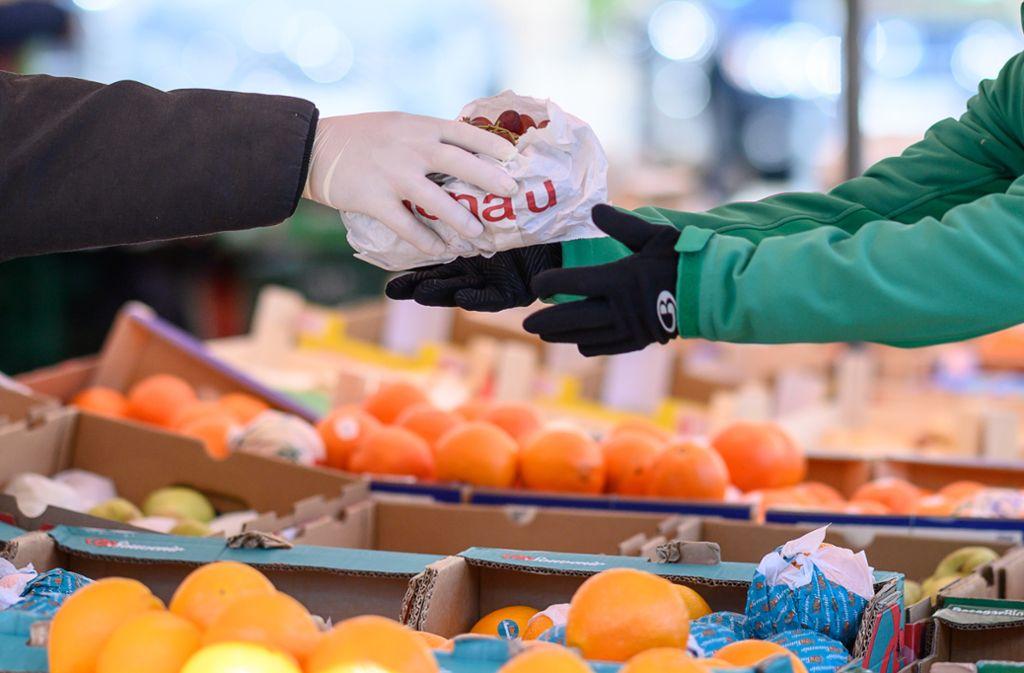 Handschuhe Beim Einkaufen